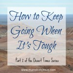 Desert Times Part 2: How to Keep Going When It's Tough