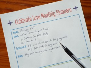 Cultivate Love Monthly Planner 1