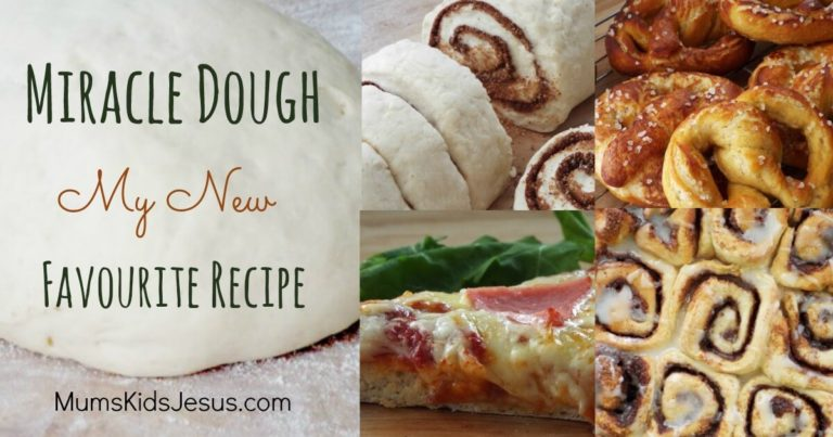 This dough is amazing! 5 simple ingredients. Ready to bake in just 30 mins. Cinnamon rolls, pretzels, pizza...my family's begging for more! It really is a miracle dough! Click the pin to find out more!