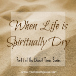 Desert Times Part 1: For When Life is Spiritually Dry