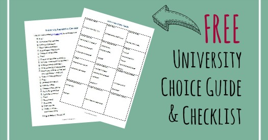 Choosing a University: Help Your Child Ask the Right Questions (& free University Choice Guide and Application Checklist!)