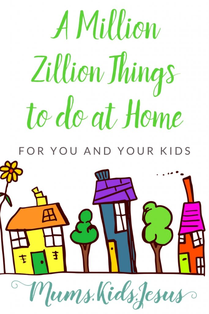 A 'live' eBook with lists of activities to do at home - in your house or garden - with resources you probably already own. Families, adults, teens and kids will find a wealth of ideas: activities, games, projects, learning, and, most importantly, ways to connect with God, and find strength in Him, during these challenging times.